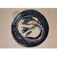 China Armored Fiber Optic Patch Cord , 8 Cores Multimode Fiber Optic Patch Cables on sale