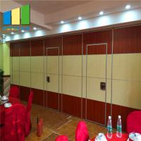 Sound Proof Operable Folding Partition Walls For Meeting Room / Auditorium Manufactures
