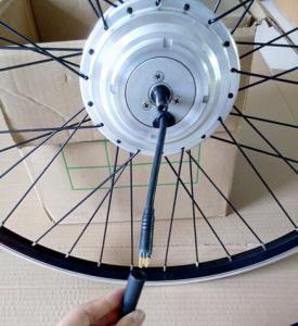 China Twist throttle electric mountain bike conversion kit , 25km / h motorized bicycle conversion kit on sale