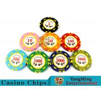 Texas Hold'em / Metal Poker Chips For Casino Gaming With Numbers Casino Chips Manufactures