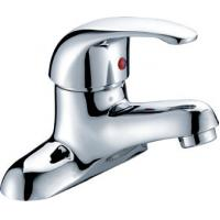 Chrome Polished Two Hole Bathroom tap for Ceramic Basin , Single Lever Manufactures
