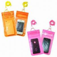 Waterproof PVC Holder for iPhone, with 3 Lock Zipper Closures, Large in Size Manufactures