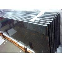 Quality Tan Brown Granite Kitchen Countertops Curved Edge / Bullnose Laminated Edging for sale