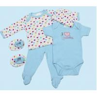 China 5pcs Newborn Baby gift sets  100% cotton with emb on sale