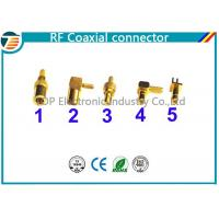 50 Ohm , 75 Ohm Right Angle Straight SMB Coaxial Connector Low Reflection Manufactures
