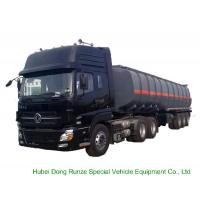 Tri Axles Caustic Soda Chemical Delivery Truck For 30 - 45MT Sodium Hydroxide Manufactures