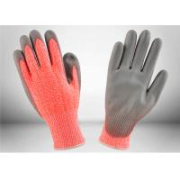 Work Protection Cut Resistant Gloves Orange Knitted Shell Crinkle Latex Coated Palm Manufactures
