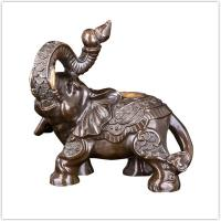 Character Ornaments Antique Bronze Elephant Statue For Home / Garden Manufactures