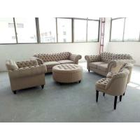 Small Fabric Chesterfield Sofa , Grey Fabric Chesterfield Sofa OEM Service Manufactures
