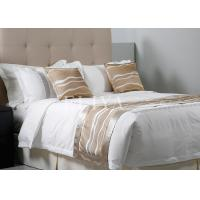 Plain Fashion Design Hotel Bed Linens and Textile with Fitted Sheet ,  Duvet Cover , Pillowcase Manufactures
