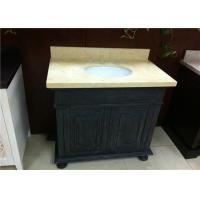 Absolute Black Bathroom Vanity Cabinet With Sunny Beige Marble Top Manufactures