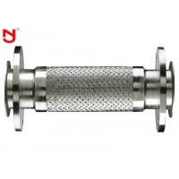 Double Wire Metal Braided Hose Steel Belt Net Both Ends Flange Connector  Corrosion Resistant