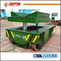 China Conducting Rails Hydraulic Lift Table Cart , Q235 Industrial Handling Equipment on sale