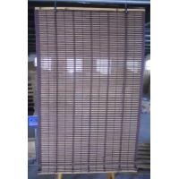 Indoor Bamboo Window Roller Blinds With Cotton Border / Woven Wood Blinds Curtains Manufactures