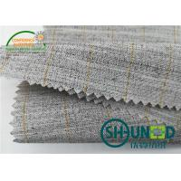 China Heavyweight Garment Stretched Cotton Canvas Fabric / Horsehair Interlining For Suit on sale