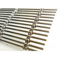 Cable Rod Woven Decorative Wire Mesh , Stainless Steel Architectural Mesh Panels Manufactures