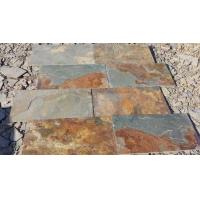 China Multicolor Slate Floor Tiles Rusty Slate Paving Stone for Walkway Driveway Manufactures