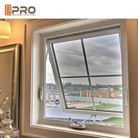 Durable Top Hung Aluminium Windows With Double Tempered Glass Powder Coating Manufactures
