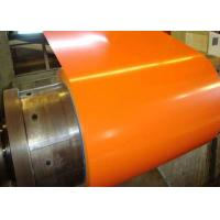 Orange Pre Painted Galvanized Coils 0.18 - 0.2mm Thickness With Base Metal GI GL Manufactures