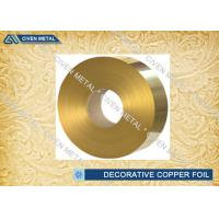 China Brass Rolled Copper Foil For Decorative Industry , copper sheet for crafts on sale