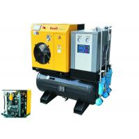 10hp Combined Screw Air Compressor 1m3/Min With  Air Dryer Air Tank And Line Filters Manufactures