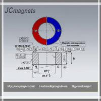 China Size:D8.5Xd5X3.5-Ceramic magnet/Ferrite ring magnet for water meter on sale
