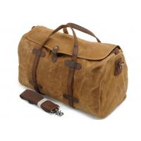 China CL-600 Brown Classical Canvas Bag Waxed Canvas and Leather Luggage on sale