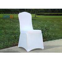 China Fire Retardant White Universal Chair Covers Anti Static Soft Touching Insulated on sale