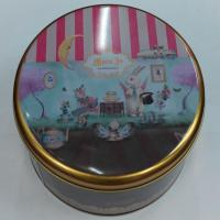 China Round tin box cute cookie tin box on sale