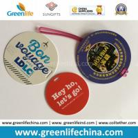 Promotional Custom Round Travel PVC Luggage Tag Direct Sign Name Manufactures