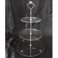 Transparent Round Three Layer Acrylic Cake Stand For Birthday Party Manufactures