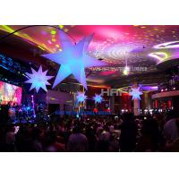 China 2m Diameter Giant Inflatable Beautiful Advertising Led Lighting Star For Wedding on sale