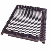 Quality PVDF Coated Hook Up Frame Expanded Metal Mesh For External Curtan Wall Panel for sale