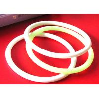 Quality Diameter Line Shape Custom Silicone Bracelets , Inspirational Rubber Bracelets Elegant Design for sale
