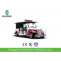 China 8 Person Battery Powered Electric Fire Truck With 4 Wheel Drive Fire Protection on sale