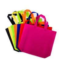 Eco Friendly Printed Fabric Non Woven Grocery Tote Recyclable 27cm x 11cm x 32cm Manufactures