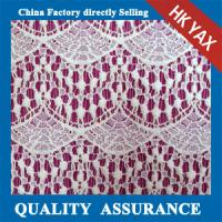 china supplier 2015 Fancy Design White Polyester Guipure for Wedding Embroidery Lace Fabric Manufactures