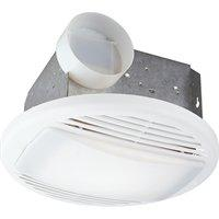 round window-mounted bath wall extractor fans