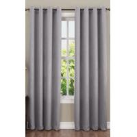 China 135gsm Crushed Window Panel Curtains , Bedroom Window Curtains With 8 Grommets on sale