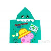 Customized Childrens Towelling Ponchos , Babies Swimming Towels With Hoods 400gsm Manufactures