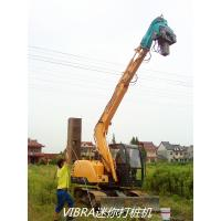 High Speed Mini Excavator Pile Driver 117KN Centrifugal Force Easy Maintenance Manufactures
