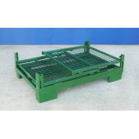 China Foldable Wire Container Storage Cages Warehouse Material Handling for sale
