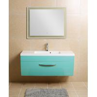 Contemporary Bathroom Furniture Vanities With Tops Radiant Door Lake Blue Colored Manufactures