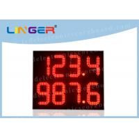China Easy Operation Multi Color LED Gas Price Signs Digital 12'' 300mm Digit Height on sale