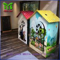 Environment friendly Children cardboard coloring house with grey back , grey paper Manufactures