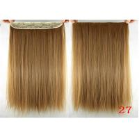 Long Silky straight Synthetic Hair Extensions Double Drawn Strong Hair Weaving Manufactures
