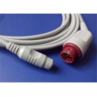 Compatible Mindray Invasive Blood Pressure Cable 12 Pin Connector 2.7m Length Manufactures
