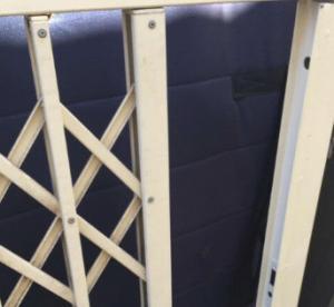 China High Safety Aluminium Burglar Trellis door,Sliding with Slam Dead lock on sale
