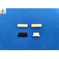 1.0mm Pitch Right Angle SMT Wafer Connector Single Row With PA6T Material Manufactures