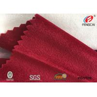 100% Polyester Fleece Sofa Velvet Upholstery Fabric , Composite Fabric Manufactures